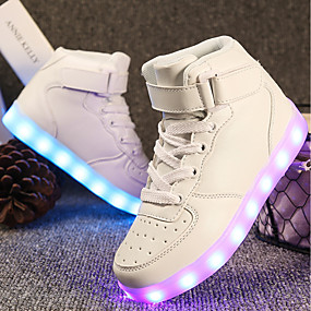 cheap LED Shoes-Girls' Shoes Customized Materials / Leatherette Spring & Summer Comfort / Light Up Shoes Sneakers Walking Shoes Lace-up / Hook & Loop /