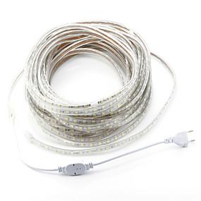 cheap 30% OFF-ZDM AC220V  20M 1200 SMD  LEDs 5050 LED SMD Single Core Outdoor Waterproof Flexible Tape Rope Strip Light  EU Plug
