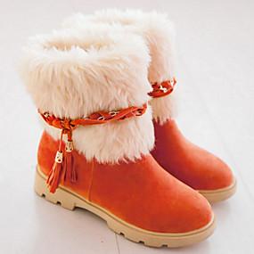 7565d792c04 Γυναικεία Παπούτσια Σουέτ Φθινόπωρο / Χειμώνας Ανατομικό / Πρωτότυπο / Μπότες  Χιονιού Μπότες Επίπεδο Τακούνι Στρογγυλή Μύτη Μποτίνια /