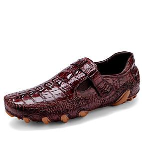 baratos Sapatilhas e Mocassins Masculinos-Homens Sapatos formais Couro / Pele Primavera / Outono Mocassins e Slip-Ons Preto / Vinho / Festas & Noite / Loafers de conforto