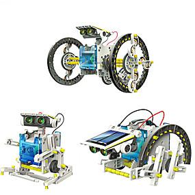 povoljno Edukativne igračke-14 in 1 GE615 Roboti Igračke na solarno napajanje Vozila Automobil transformabilan Uradi sam ABS Dječji Dječaci Djevojčice Igračke za kućne ljubimce Poklon