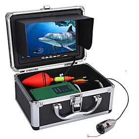 billige Overvåkningskameraer-30m 1000tvl undervannsfiske videokamera sett 6 stk ledd lys med 7 tommers fargeskjerm