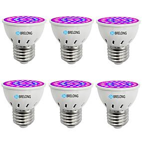 billige LED Økende Lamper-BRELONG® 6pcs 1 W Voksende lyspære 300 lm E14 GU10 MR16 36 LED perler SMD 2835 Blå 220-240 V