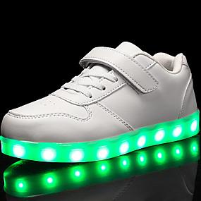 a59b52007bb5 Drenge   Pige Sko Kunstlæder Forår Komfort   Lysende Sko Sneakers Gang  Snøring   hægte   LED for Rød   Blå   Lys pink