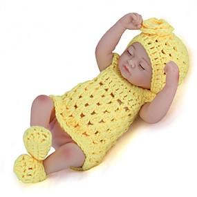 billige Legetøj-NPKCOLLECTION NPK DOLL Reborn-dukker Pige Doll Babypiger 12 inch Fuld krops silicone Silikone Vinyl - Nyfødt livagtige Nuttet Håndlavet Børnesikker Nyt Design Børne Unisex Legetøj Gave / Floppy Head