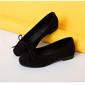 abordables Chaussures Plates pour Femme-Femme Polyuréthane Automne Confort Ballerines Talon Plat Bout rond Appliques Rouge / Rose / Kaki / Habillé
