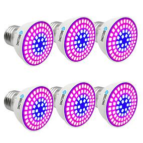 billige LED Økende Lamper-BRELONG® 6pcs 6 W Voksende lyspære 300 lm E14 GU10 MR16 72 LED perler SMD 2835 Blå 220-240 V