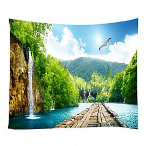 ieftine Wall tapiserii-Temă Grădină Peisaj Wall Decor 100% Poliester Contemporan Wall Art, Tapiserii de perete de