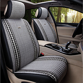 billige Spesialtilbud-5 seter grå fire sesonger generelt bilsete deksel for fem-seters bil / sommer / is silkeklut kunst / kollisjonspute kompatibilitet / justerbar og avtakbar / familiebil / suv