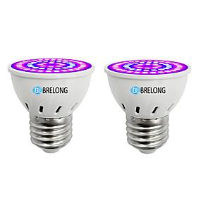 preiswerte LED Pflanzenlampe-BRELONG® 2pcs 7 W Wachsende Glühbirne 300 lm E14 GU10 MR16 54 LED-Perlen SMD 2835 Blau 220-240 V