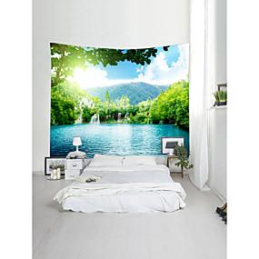 preiswerte Wandteppiche-Garten Landschaft Wand-Dekor 100% Polyester Moderne Modern Wandkunst, Wandteppiche Dekoration