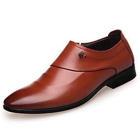 baratos Sapatilhas e Mocassins Masculinos-Homens Sapatos formais Couro Sintético Primavera / Outono Conforto Mocassins e Slip-Ons Preto / Marron