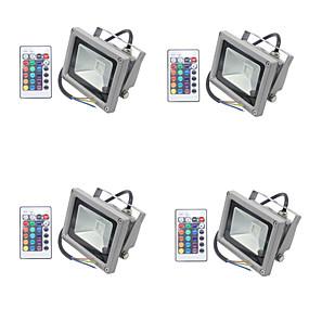 halpa Valonheittimet-4kpl 10 W LED-valonheittimet / Lawn Valot Vedenkestävä / Himmennettävissä / Koristeltu RGB 85-265 V Ulkovalaistus / Piha / Puutarha 1 LED-helmet