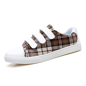 baratos Tênis Masculino-Homens Sapatos Confortáveis Couro Ecológico Primavera / Outono Tênis Castanho Escuro / Verde Escuro / Vermelho