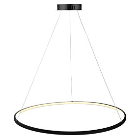cheap Pendant Lights-Ecolight™ Circle Pendant Light Ambient Light Painted Finishes Metal Acrylic LED 110-120V / 220-240V White / Dimmable With Remote Control / Wi-Fi Smart