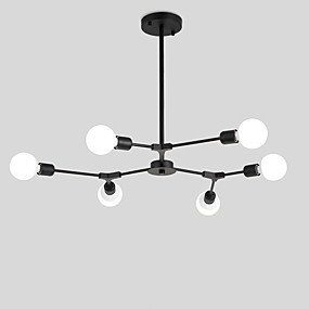 cheap Chandeliers-Northern Europe Chandelier 6-Head Modern Metal Molecules Pendant Lights Living Room Dining Room Bedroom Painted Finish
