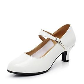 Недорогие Обувь и сумки-Жен. Обувь для модерна Лакированная кожа На каблуках Планка Каблуки на заказ Персонализируемая Танцевальная обувь Белый / В помещении
