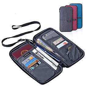 abordables Sécurité en Voyage-Etui à Passeport & Pièce d'Identité Portable Multifonction Accessoire de Bagage Polyester 22.5*12cm cm