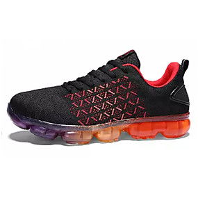 cheap Running Shoes-Men's Tulle / Fabric Spring / Summer Comfort Athletic Shoes Running Shoes Black / Gray / Black / Red