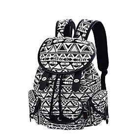 cheap School Bags-Women's Bags Backpack Buttons / Tiered Geometric Black / Bronze / Royal Blue