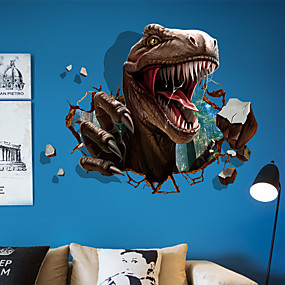 cheap Others-Decorative Wall Stickers - Animal Wall Stickers Animals 3D Living Room Bedroom Bathroom Kitchen Dining Room Study Room / Office