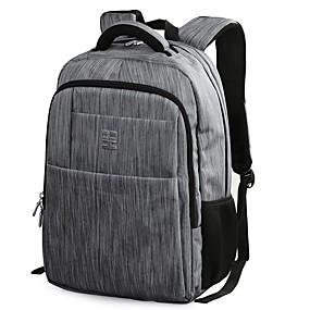 cheap School Bags-Men's Bags Nylon Backpack Rivet / Zipper Geometric Gray / Coffee