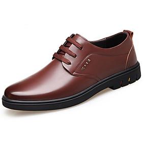 baratos Oxfords Masculinos-Homens Sapatos de vestir Pele Primavera Oxfords Preto / Marron / Sapatos Confortáveis