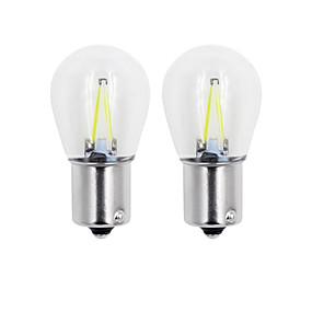 povoljno Car Signal Lights-2pcs 1157 / 1156 Automobil / Motor Žarulje 2W COB 150lm 2 LED Žmigavac svjetlo For Univerzális General Motors Sve godine