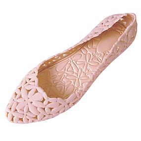 voordelige Damesschoenen met platte hak-Dames Platte schoenen Platte hak Ronde Teen PVC Comfortabel Zomer Grijs / Roze / Wijn