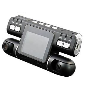 economico DVR per auto-F105 1080p Visione notturna / Monitoraggio a 360 ° / Dual Lens Automobile DVR 120 Gradi Angolo ampio CMOS 2.7 pollice LCD Dash Cam con Rilevatore di movimento Registratore per auto