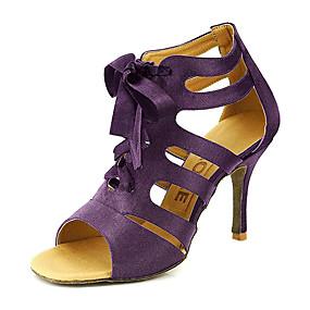 Salsa Satén Mujer de Zapatos Fucsia Amarillo Hebilla de Zapatos Morado baile Sandalia Salón Personalizables nArpn