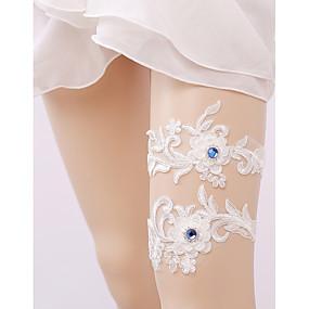 billige Strømpebånd til bryllup-Blonder Bryllup / Euro-Amerikansk Bryllupsklær Med Rhinsten / Blonder Strømpebånd Bryllup / Fest