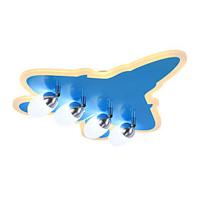 billige Barnerom-ZHISHU 4-Light Takplafond Omgivelseslys Malte Finishes Akryl Glass Mulighet for demping 220-240V Dimbar med fjernkontroll Pære Inkludert / Integrert LED