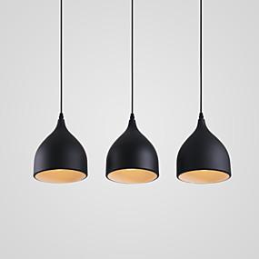 billige Hengelamper-3-Light Cluster Anheng Lys Nedlys Malte Finishes Metall designere 110-120V / 220-240V Pære ikke Inkludert / E26 / E27