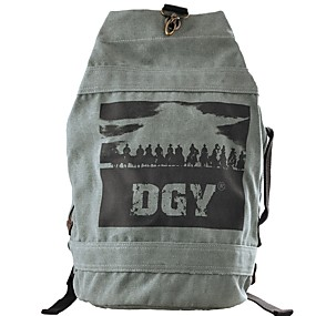 cheap School Bags-Unisex Bags Canvas Backpack Zipper Geometric Gray / Coffee / Brown