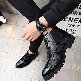 baratos Oxfords Masculinos-Homens Sapatos Confortáveis Borracha Primavera / Verão Oxfords Preto / Vermelho / Verde / Ao ar livre