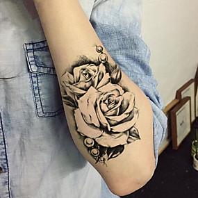 09dffe69d1267 5 pcs Tattoo Stickers Temporary Tattoos Flower Series Body Arts Brachium