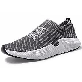 7eed1603 Hombre Suelos ligeros Tela Elástica Otoño Zapatos de taco bajo y Slip-On  Negro / Gris / Verde / Deportivo