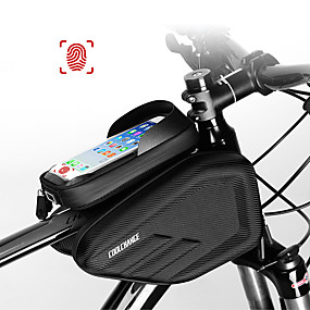 cheap Bike Frame Bags-CoolChange Cell Phone Bag Bike Frame Bag Top Tube 6.0/6.2 inch Touch Screen Waterproof Cycling for Cycling iPhone X iPhone XR Black Mountain Bike / MTB / iPhone XS / iPhone XS Max