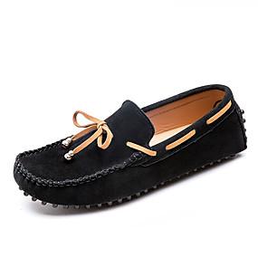 baratos Sapatos Náuticos Masculinos-Homens Mocassim Camurça Primavera & Outono Casual / Formais Sapatos de Barco Não escorregar Preto / Cinzento / Marron
