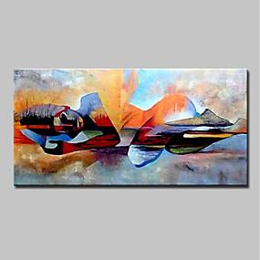 levne Abstraktní malby-Hang-malované olejomalba Ručně malované - Lidé Náboženské Moderní Bez vnitřní rám / Válcované plátno
