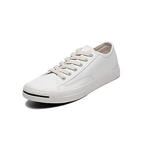 baratos Tênis Masculino-Homens Sapatos Confortáveis Lona Verão Tênis Preto / Verde / Branco / Ao ar livre