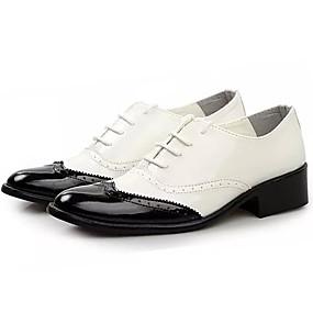 voordelige Wijdere maten schoenen-Heren Comfort schoenen PU Zomer Oxfords zwart / wit / Geel / Rood / ulko-