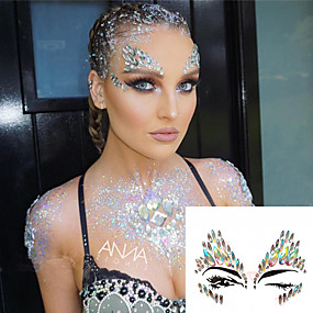 cheap Temporary Tattoos-face-painting-colors-face-temporary-tattoos-1-pcs-jewelry-series-romantic-series-crystal-body-arts-christmas-halloween-masquerade