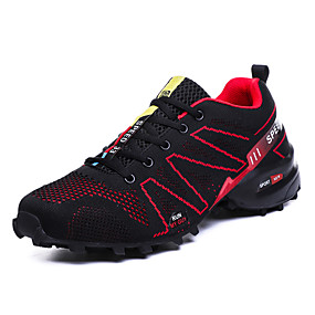 cheap Running Shoes-Men's Comfort Shoes Knit Fall / Spring & Summer Athletic Shoes Running Shoes / Hiking Shoes Color Block Gray / Red / Blue