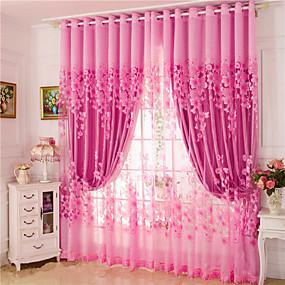 halpa Ikkunoiden verhot-verhot verhot kaksi paneelia olohuone kukka 100% polyesteri jacquard
