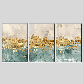 cheap Others-Print Stretched Canvas Prints - Abstract Modern Three Panels Art Prints