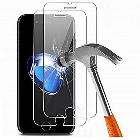 povoljno Zaštitne folije za iPhone-Screen Protector za Apple iPhone 7 Plus Kaljeno staklo 2 kom Prednja zaštitna folija Visoka rezolucija (HD) / 9H tvrdoća / 2.5D zaobljeni rubovi