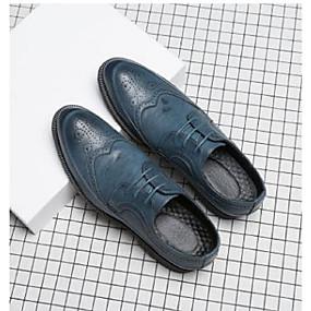 baratos Oxfords Masculinos-Homens Sapatos formais Couro Ecológico Primavera Verão / Outono & inverno Negócio Oxfords Azul Escuro / Cinzento / Amarelo