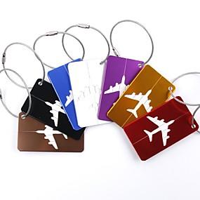 tanie Akcesoria podróżnicze i bagażowe-1szt Identyfikator do bagażu Akcesoria do walizek na Akcesoria do walizek Stop aluminium - Czarny / Czerwony / Złoty / Białe srebro